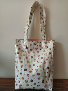 PRETTY IN PINK  White & Pink Macaron Pastry Cherry Shopping Travel Tote Bag