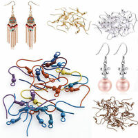 Fashion 100pcs/500pcs  Plated Coil Wire Metal Silver/Golden Earring Hooks 19mm