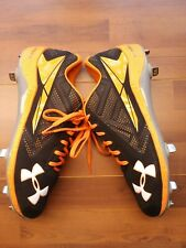 Under Armour Low DT Black/Orange Baseball Cleats Size 12