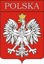 POLSKA coat of arms sticker decal flag bumper car