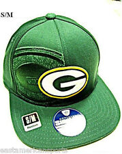 Green Bay Packers NFL Reebok Sideline Flat Visor Logo Hat Cap Flex Fitted S/M