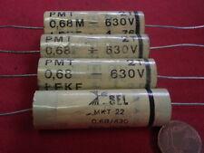 KONDENSATOR HOCHVOLT  0,68µF (680nF) 630V=ITT/SEL PMT MKT  D14x42mm   4x   24257