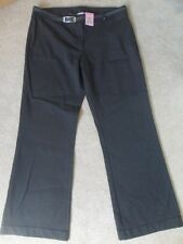 """EX M&S GREY BELTED STRETCH STAIN DEFENCE SCHOOL UNIFORM TROUSERS 31.5""""W 30""""L BN!"""
