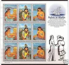 MARSHALL ISLANDS # 213-215 SALUTE TO ALASKA ANNIVERSARY Sheet
