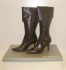FIORELLI WOMENS POINTY WINTER BOOTS SIZE 11 LEATHER LADIES JAYE BROWN rrp$299.95