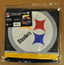 Pittsburgh Steelers Insulated soft Lunch Bag Cooler New - BIG LOGO - 12 Pack