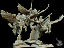 3 chevaliers montés sur pégase Warhammer 9th Age KOW Age of Sigmar 28mm