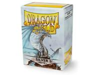 Silver Matte 100 ct Dragon Shield Sleeves Standard Size FREE SHIPPING 10% OFF 2+