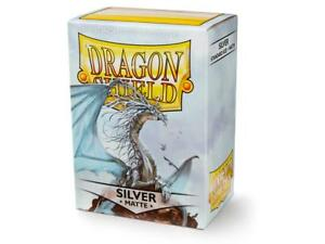 Matte Silver 100 ct Dragon Shield Sleeves Standard Size FREE SHIPPING 10% OFF 2+