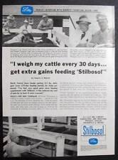 1957 Stilbosol  Feed Ad Photo Endorsed by Kenneth Thompson of Alden Iowa