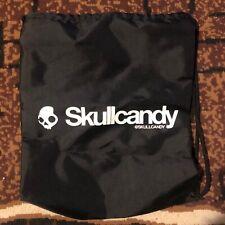 Skullcandy Black Nylon Drawstring Carry All Bag With White Logo