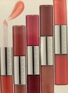 CLINIQUE Pop Splash Lip Gloss + Hydration Duo Set ~ 5pc Travel Set .09 Fl Oz X 5