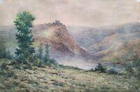 FRED ROHR (1828 – 1888) 2 Acquerelli antichi Ottocento Watercolours Paesaggio