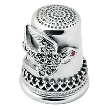 More details for marcasite swallow thimble sterling silver 925 hallmarked new from ari d norman