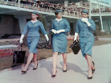 LOT OF 8! AIRLINE STEWARDESS IN UNIFORM Retro Hlwd Photos COME FLY WITH ME 8x10s