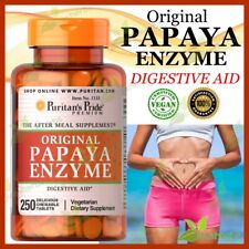 Papaya Enzyme Digestive Aid Digestion Lung Vision Chewable Supplement 250 Tablet