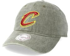 MITCHELL & NESS NBA Cleveland Cavaliers Blast Wash Khaki Slouch Relaxed Dad Cap