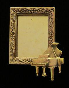Baby Grand Piano Music Photo Pin 24 karat Gold Plate