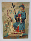 Vintage retro Paint By Numbers painting Asian man playing guitar 14x10
