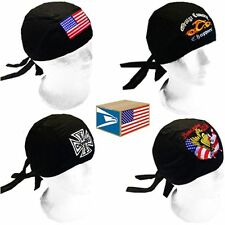 12 LOT EMBROIDERED 3D SKULL CAP Assorted Designs DOO DO DU RAG DURAG HAT!