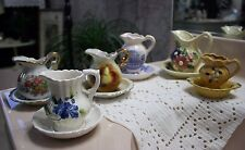 Vintage Lot Of 6 Mini Pitcher And Bowl Sets