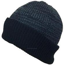 BWH 40 Gram Thinsulate Insulated Beanie #852 Black/Dark Gray W/Solid Black Cuff