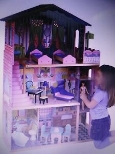 KidKraft My Dream Mansion Wooden Dollhouse with Elevator and 13 Accessories