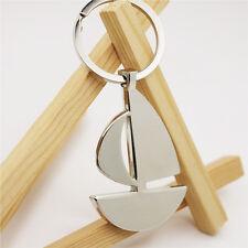 Cool Sailboat Sailing boat Model Keychain KeyRing Metal Pendant Kid Gift Present