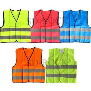 Kids Boys Girls Unisex New Hi-Vis Vest 2 Band Reflective Wear Safety Waistcoat