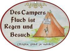 Spruchschild Wandschild Campers Fluch Türschild Camping Aufhänger Spruch lustig
