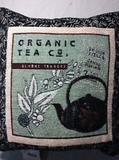 Tea Time B Organic Pillow  Afghan Throw Pillow
