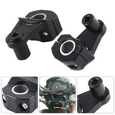 2x Universal 7/8'' 22mm Motorcycle HandleBar Handle Fat Bar Mount Clamps Riser