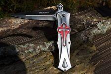 Knights Templar Crusader Cross Spring Assisted Folding Knife - Medieval Dagger