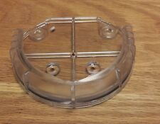 Hand Blown Art Glass Platter Wall Hanging Mounting Kit Plate Clear