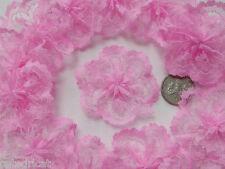 20 pc -Pastel Pink Lace Rosettes (4cm)-  Bows Appliques/Craft/Wedding Decoration