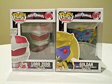 Funko Pop! Power Rangers #666 Lord Zedd and #667 Goldar Figures - Damaged Boxes
