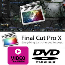 Apple final cut pro x – vidéo professionnelle formation tutorial dvd - 2 x dvd