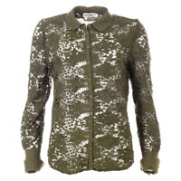 ESSENTIEL ANTWERP Shirt Green Floral Lace Size 36 / UK 8 RRP £189 BG 353