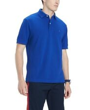 Tommy Hilfiger Mens Shirt Blue Size 2XL Classic Fit Short Sleeve Polo $49 087