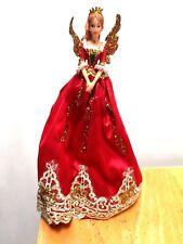 Gisela Graham Large Red Nutcracker Fairy Angel Christmas Tree Topper Decoration