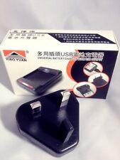 Nuevo Universal Multi Cargador de batería con Uk 3 Pin Enchufe Y Puerto Usb Para Todo Tipo