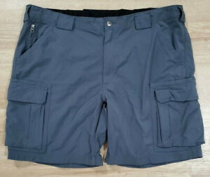 Duluth Trading Mens Shorts Size 2XL Dry on the Fly Cargo Gray