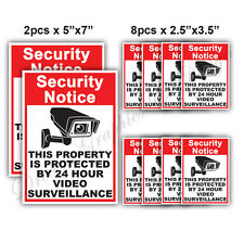 10x CCTV Video Surveillance Security Camera Alarm Video Sticker Warning Decal 02