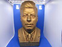 Vintage John F. Kennedy plaster 8 3/4'' bust Gold