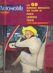 L'AUTOMOBILE 211 1963 TOUR AUTO NOUVEAUTE SALON PARIS LONDRES TURIN MERCEDES 600