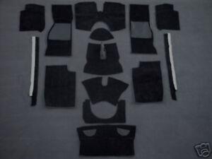 Carpet kit for Triumph TR4a TR250 TR5  TR6  Velours black