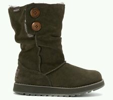 New women skechers Australia freezing temps charcoal boots size 6 suede leather