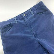 Vintage 1960s Wrangler Corduroy Pants Cords Straight Leg Blue Size 38x31