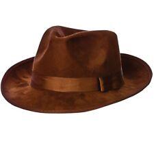 20s 1920s Deluxe Fedora Fancy Dress Hat Durable Gangster Hat Brown Freddy New w