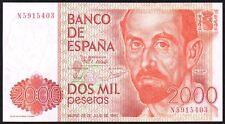 1980 (1983) SPAIN 2000 PESETAS BANKNOTE * N 5915403 * UNC * P-159 *